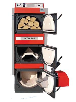 Atmos calderas combinadas de lena pellets aceite - Caldera de pellets y lena ...
